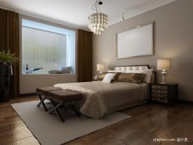 北欧风格主卧室飘窗装修设计