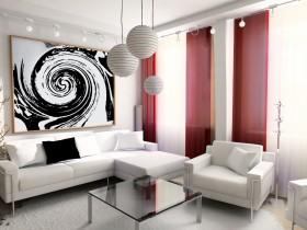 现代简约小客厅沙发背景墙装修效果图
