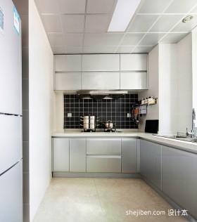 现代家装厨房橱柜效果图