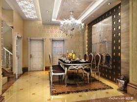 餐厅背景墙装饰效果图 欧式餐厅吊顶装修效果图