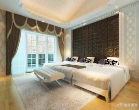 别墅主卧室装修效果图 卧室吊顶效果图