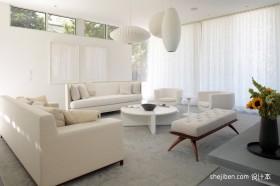 客厅装修效果图欣赏 2012白色客厅装修效果图