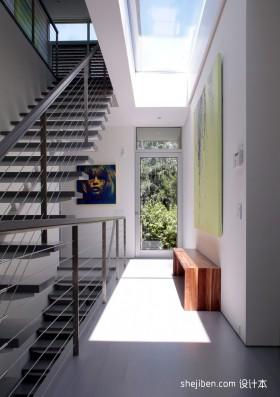 四口之家的现代风格过道效果图