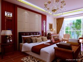 四室两厅中式装修效果图 2012年中式卧室装修效果图