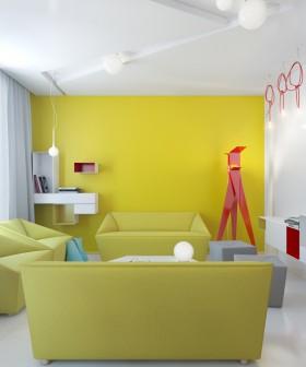 现代风格二室一厅客厅装修装修效果图 两室一厅装修案例