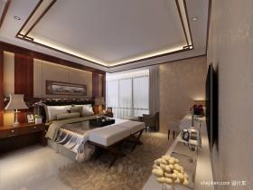 中式风格主卧室装修效果图大全2013图片