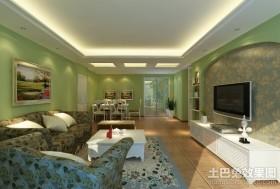 田园风格家装客厅装修效果图欣赏