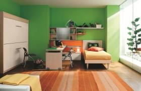 绿色儿童房卧室书房装修效果图大全