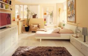 简约卧室装修效果图 卧室休闲区简约吧台设计装修效果图