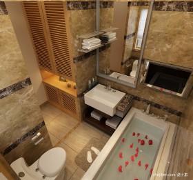 卫浴浴缸装修效果图