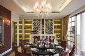 餐厅酒柜装修效果图 欧式餐厅装修效果图
