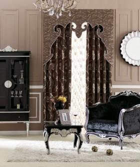 新款窗帘 欧式风格窗帘装修效果图