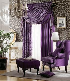 欧式窗帘效果图 2012最新窗帘图片