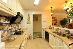 2012厨房装修效果图 田园风格厨房装修