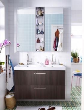 洗手间装修效果图  卫生间储物柜装修效果图