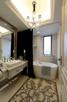 欧式卫生间浴缸吊顶效果图片
