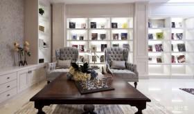家装客厅现代博古架效果图