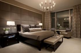 现代风格主卧室装修效果图大全 卧室窗帘图片
