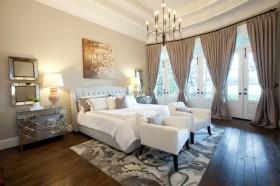 欧式简约卧室装修效果图大全 卧室窗帘图片欣赏
