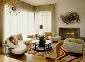 客厅装修效果图 客厅窗帘装饰效果图
