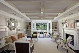 欧式别墅客厅吊顶设计图片