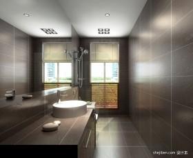 现代长方形卫生间装修效果图欣赏