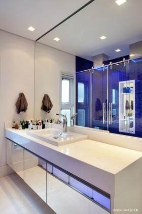 简约卫生间洗手台装修效果图