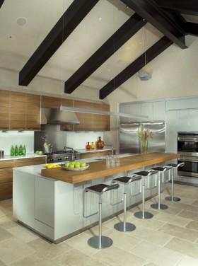 别墅开放式厨房吧台装修效果图欣赏