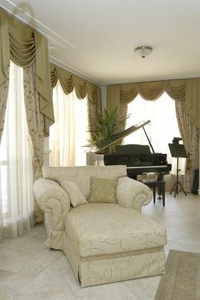 欧式窗帘装修效果图  窗帘布艺图片