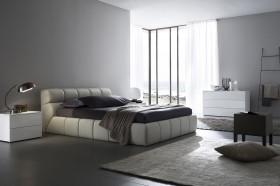 现代主卧室装修效果图大全 卧室窗帘设计图片