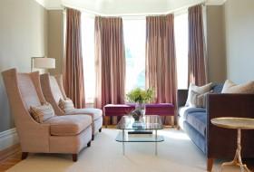 现代风格客厅窗帘效果图  客厅窗帘图片