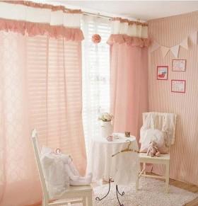粉色窗帘效果图  客厅窗帘图片
