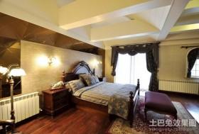 美式别墅主卧室装修效果图欣赏