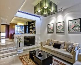 二居室客厅沙发装修效果图