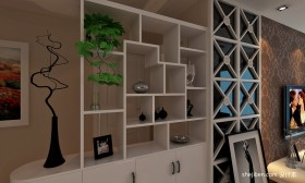 客厅现代博古架效果图片
