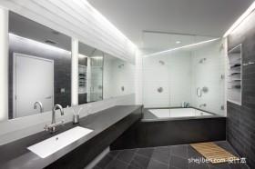 现代风格卫生间装修效果图 洗手间装修效果图