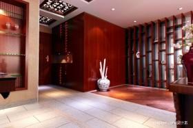 中式客厅玄关装修效果图片
