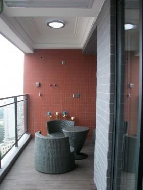 阳台墙面贴瓷砖装修效果图
