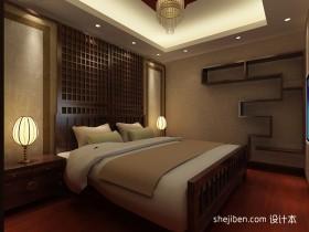 中式卧室吊顶装修效果图大全2013图片