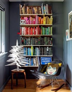 板式墙上书架设计图背景墙
