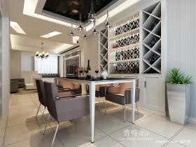餐厅酒柜装修效果图 三居室餐厅装修设计
