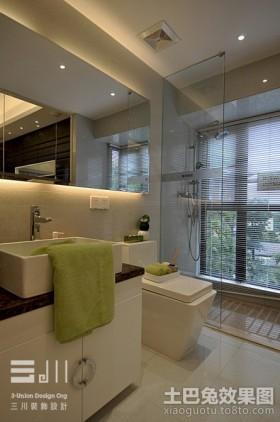 现代卫生间玻璃隔断图片