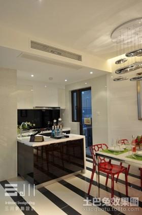 现代半开放式厨房装修效果图欣赏