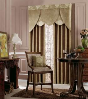 欧式客厅窗帘装修效果图  新款窗帘装修图片