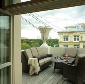 露天客厅阳台设计效果图