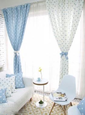 地中海客厅窗帘图片 客厅窗帘颜色搭配