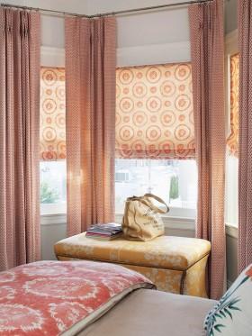 卧室窗帘效果图  2012年新款窗帘