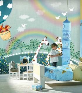 地中海兒童房背景墻裝修效果圖  兒童房效果圖
