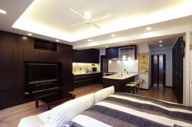 现代风格30平米单身公寓装修图