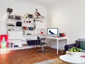 家装小书房书柜设计效果图